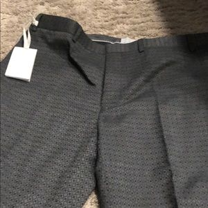 Topman dress pants patterned 36L grey NWT
